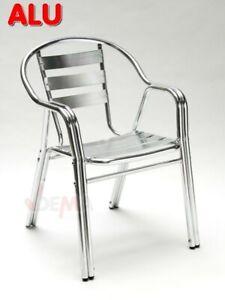 "Chaise de jardin empilable en Alu ""TWIN"" D14163"