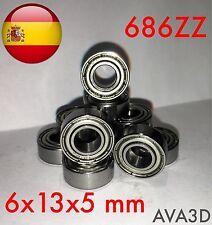 686zz 6 x 13 x 5 mm 6*13*5 mm bearing rodamiento 686-2z 686 zz ulz613 6x13x5 Mm