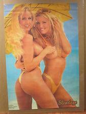 Vintage Blondage II hot girls original poster man cave car garage 6784