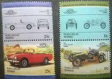 4 stamp stamps tuvalu car sunbeam tiger 1965 sizaire naudin 1908. postzegel