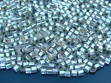 250g 21 Silver Lined Crystal Toho Triangle Seed Beads 11/0 2mm WHOLESALE