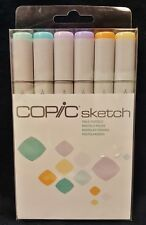 Copic 6pc Sketch Pale Pastels Dual-Tipped Alcohol Markers 6 Pen Colors Free Ship