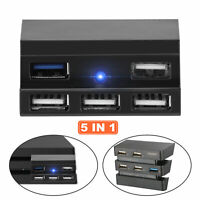 5 Port USB Hub 3.0&2.0 High Speed Extension Adapter Splitter for PS4 Pro Console