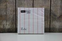 Paper + Design - Servietten - Home white/rose - Streifen - 20 Stück - 33 x 33 cm