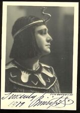 Beniamino GIGLI (Tenor): Signed Photo as Radames