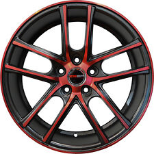 4 ZERO Wheels 18 inch Black Crimson Red Rims fits MAZDA CX-9 2007 - 2018