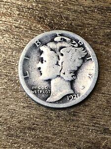 1921D Mercury Dime G