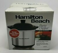 Hamilton Beach Party Dipper Crock Pot Warmer 16 oz Brushed Stainless Steel NEW