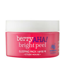 ETUDE HOUSE Berry AHA Bright Peel Sleeping Pack 100ml [Dead skin cell] KOREA