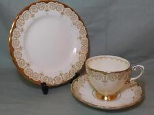 Plant Tuscan Bone China Trio Tea Cup Saucer Side Plate Ivory Cream & Gilt  6708A