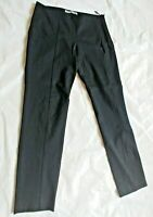 Theory Luxe Womens Black Stretch Nylon Comfortable Dress Career Pants Size Small
