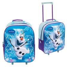 DISNEY Frozen Anna Elsa Olaf Trolley 3D bagaglio per Bambini Scuola Borsa VALIGIA CABINA