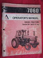 1977 ALLIS CHALMERS MODEL 7060 DIESEL TRACTOR OPERATORS MANUAL