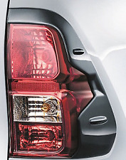 TOYOTA HILUX TAIL LIGHT COVER GARNISHES FLAT BLACK PAIR NEW GENUINE JULY 15>