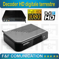 DIGIQUEST DECODER RICEVITORE DIGITALE TERRESTRE HD 2 SCART TIMER USB DGQ400
