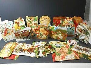 Punch Studio 20 Die-Cut Christmas Cards Antique Ephemera Images MX335