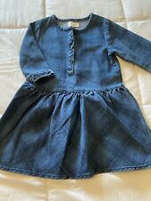 New Baby Girl's Size 4T 4 Toddler Old Navy Cute All Season Denim Plaid Dress