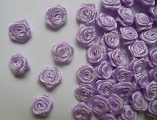 """3/8"""" (W) Light Purple Mini Polyester Satin Ribbon Roses Flowers-100 pcs (R0030U)"""