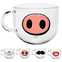 540Ml Novelty Glass Cup Mugs Coffee Tea Milk Breakfast Mug Creative Gifts D3T2