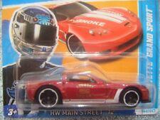 """Hot Wheels 2012 #162/247 2011 CORVETTE GRAND SPORT red """"ROANOKE"""" Fire"""