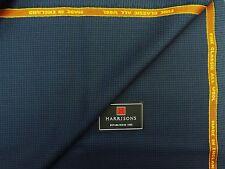 HARRISONS OF EDINBURGH 'FINE CLASSIC' ALL WOOL SUITING FABRIC, BLUE/BLACK, 2.25M