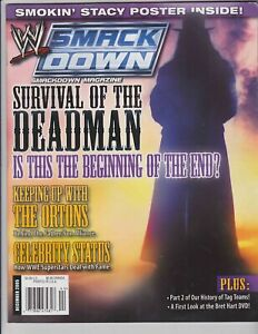 WWE Smackdown Magazine December 2005 The Undertaker 2 Sided Stacy Keibler Poster