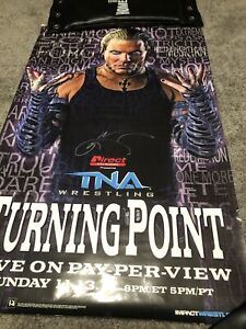 TNA Turning Point 11 PPV Poster signed autographed by Jeff Hardy WWE AEW Gcw Ecw