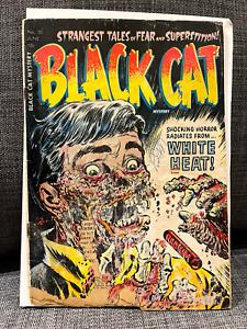 Black Cat Mystery Comics #50 Horror GRAIL ALERT Complete Unrestored