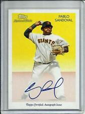Pablo Sandoval 2010 Topps National Chicle Autograph