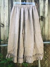 Shabby MAGNOLIA eyelet PANTS pearl color bloomers FLAX COUNTRY LINEN GRAY M L XL