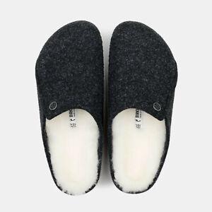 Women Birkenstock Zermatt Wool Shearling Slip On Shoes Comfort Clogs NEW