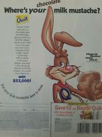 1998 Nestle quick drink where's your milk mustache Bugs Bunny ad