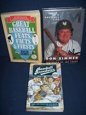 Baseball Book Lot Zim, Baseball Anecdotes,Great Baseball Feats, Facts and Firsts