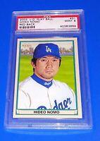 2003 U.D. Play Ball Baseball Hideo Nomo Card #31 PSA 9 Mint Los Angeles Dodgers