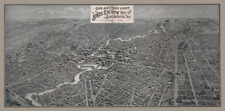 1891 Bird's Eye Map of San Antonio - there's an interesting story behind it