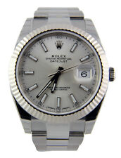 Rolex Datejust II 126334 Oyster Steel & 18k White Gold Bezel 41mm Silver Index