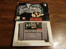 Super Nintnedo SNES Mighty Morphin Power Rangers The Movie Cart w/Original Box