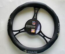 New Orleans Saints  Car Truck Black Steering Wheel Cover NFL