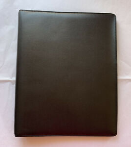Filofax A5 Executive Black Deluxe Leather Planner Diary Compendium Organiser New