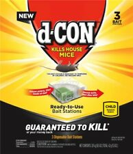 dCon, 3 Count, Disposable Mice Bait Station