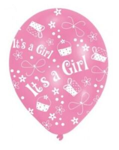 6 Pack - Its A Girl - Pink Cupcake Baby Shower Balloons Party Decorations #61988