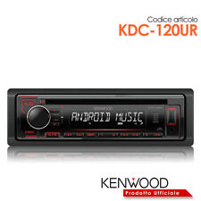 Kenwood KDC-120UR Autoradio sintolettore CD/USB/Mp3 1 uscita pre - tasti rossi