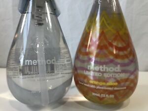 2 Method Hand Wash Soap Sweet Water Orange Slice Pump Bottle Gel Liquid 24 fl oz