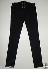 BNWT:SASS&BIDE BLACK WOOL SLIM LEG TROUSERS W/CORSET 40/4 AUS 10 MADE IN ITALY