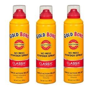 Gold Bond No Mess Powder Spray Classic Scent 7 Oz ( 3Pack)