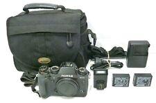 FUJIFILM X-T1 16.3MP MIRRORLESS DIGITAL CAMERA + 2xBatteries, Charger Flash &Bag