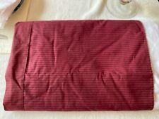 A World Of Comfort Burgundy Striped King Bedskirt