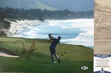 US OPEN CHAMP!!! Dustin Johnson PGA Signed PEBBLE BEACH 11x14 Photo #1 Beckett
