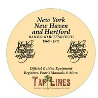 NEW YORK NEW HAVEN &  HARTFORD RAILROAD HISTORICAL RESEARCH SCANNED TO DVD