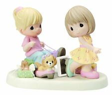 Sole Sisters Precious Moments Figurine Girls Shoe Shopping Dog NWOB